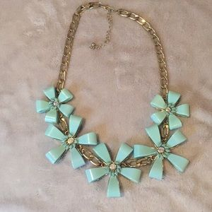 Jewelry - Statement Flower Turquoise Necklace